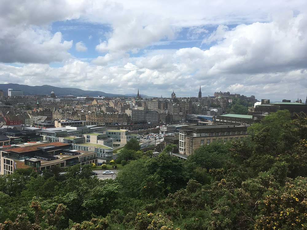 City of Edinburgh from Calton Hill