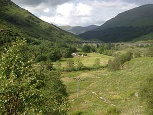 Glenfinnan Viaduct with a train